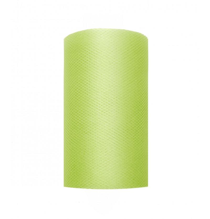 Rollo de tul verde claro de 8cm x 20m