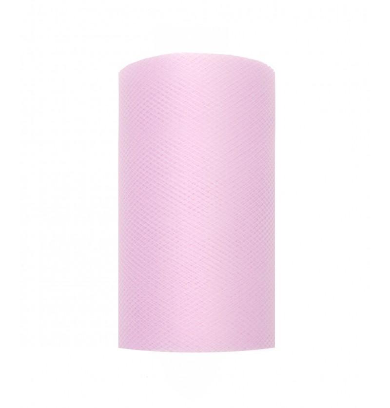 Rollo de tul lila pastel de 8cm x 20m