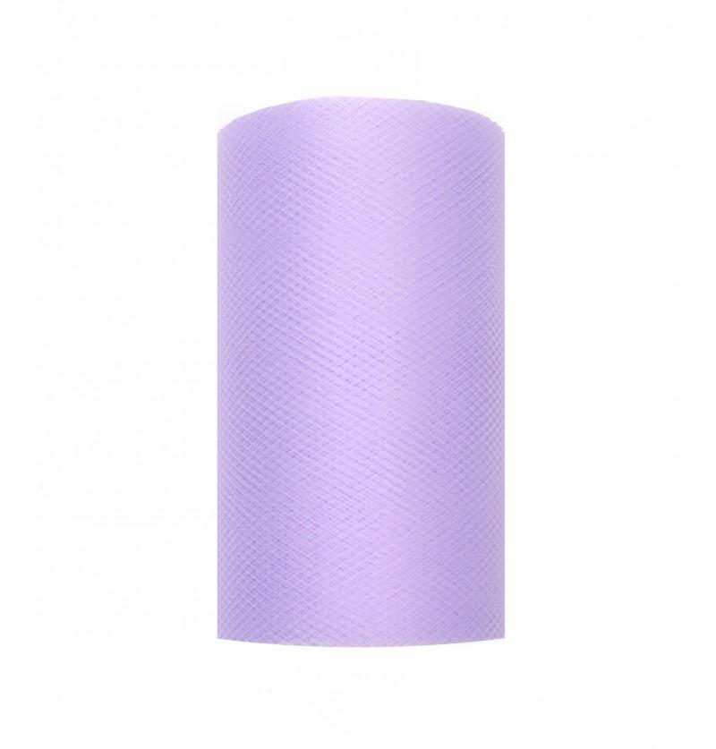 Rollo de tul lila de 8cm x 20m