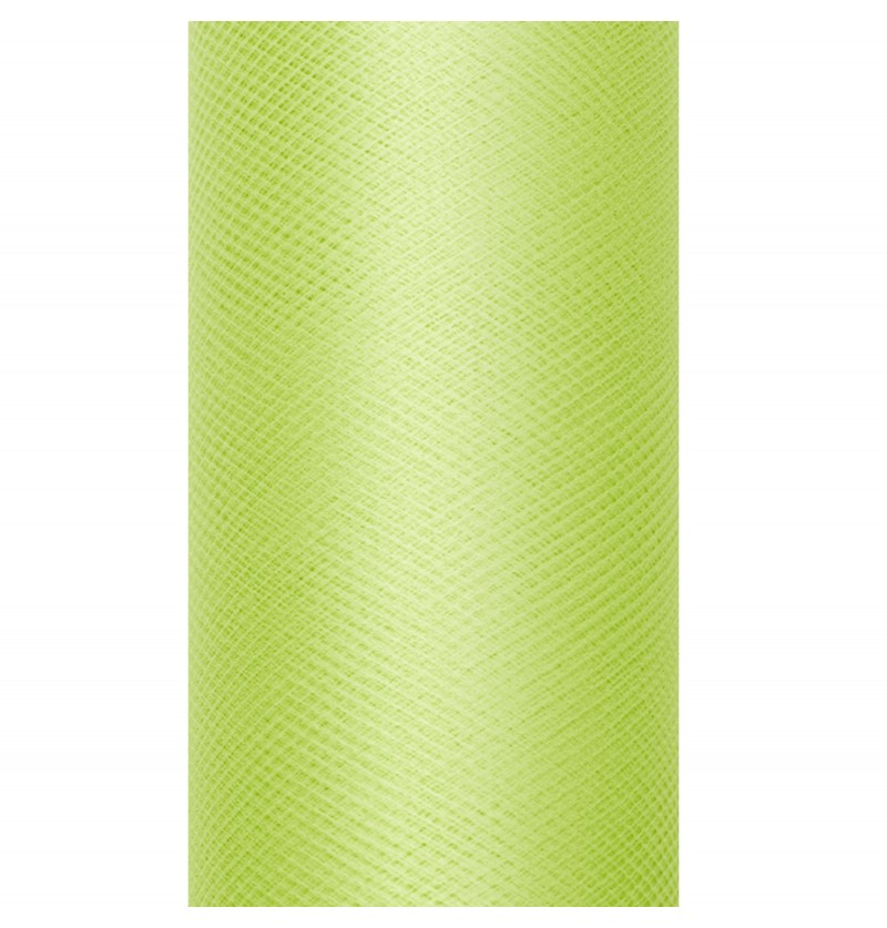 Rollo de tul verde claro de 50cm x 9m