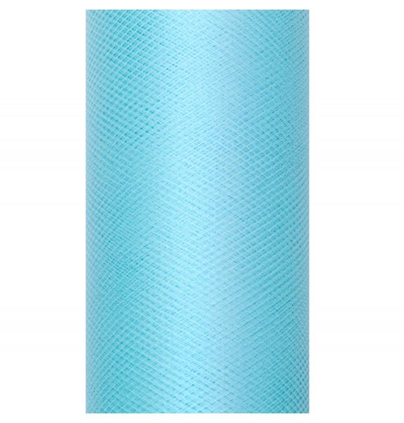 Rollo de tul azul turquesa de 50cm x 9m