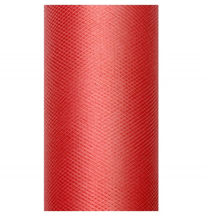 Rollo de tul rojo de 50cm x 9m