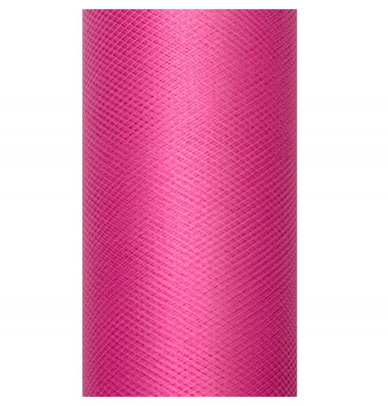 Rollo de tul rosa de 50cm x 9m