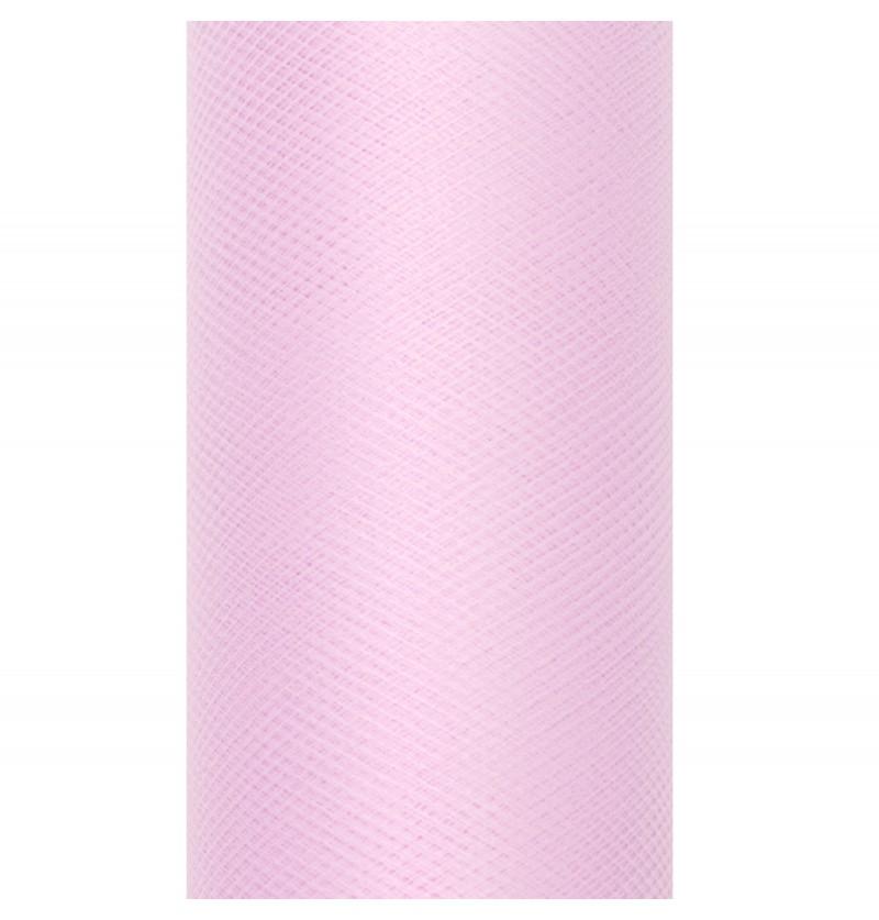 Rollo de tul morado claro de 30cm x 9m