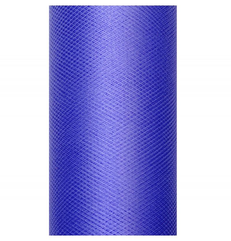 Rollo de tul azul marino de 30cm x 9m
