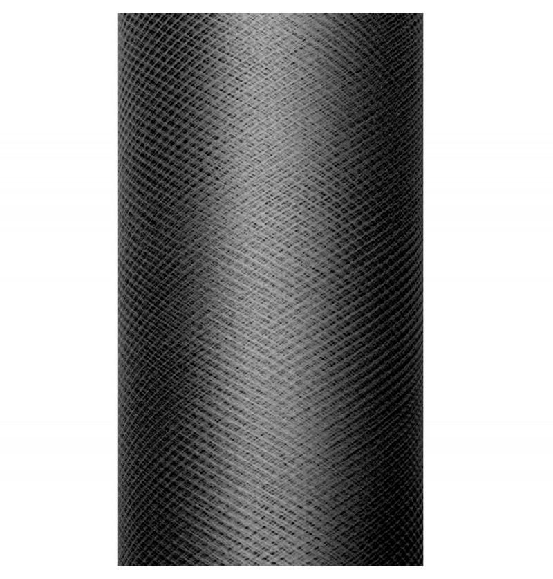 Rollo de tul negro de 30cm x 9m
