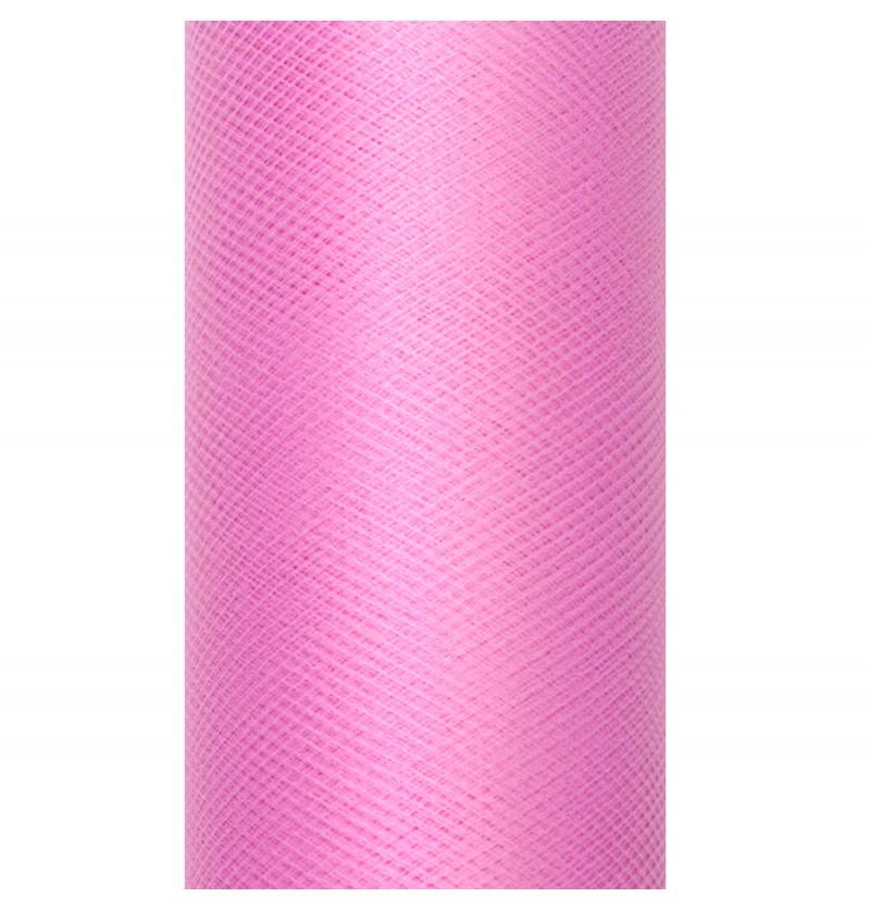 Rollo de tul rosa pastel de 15cm x 9m