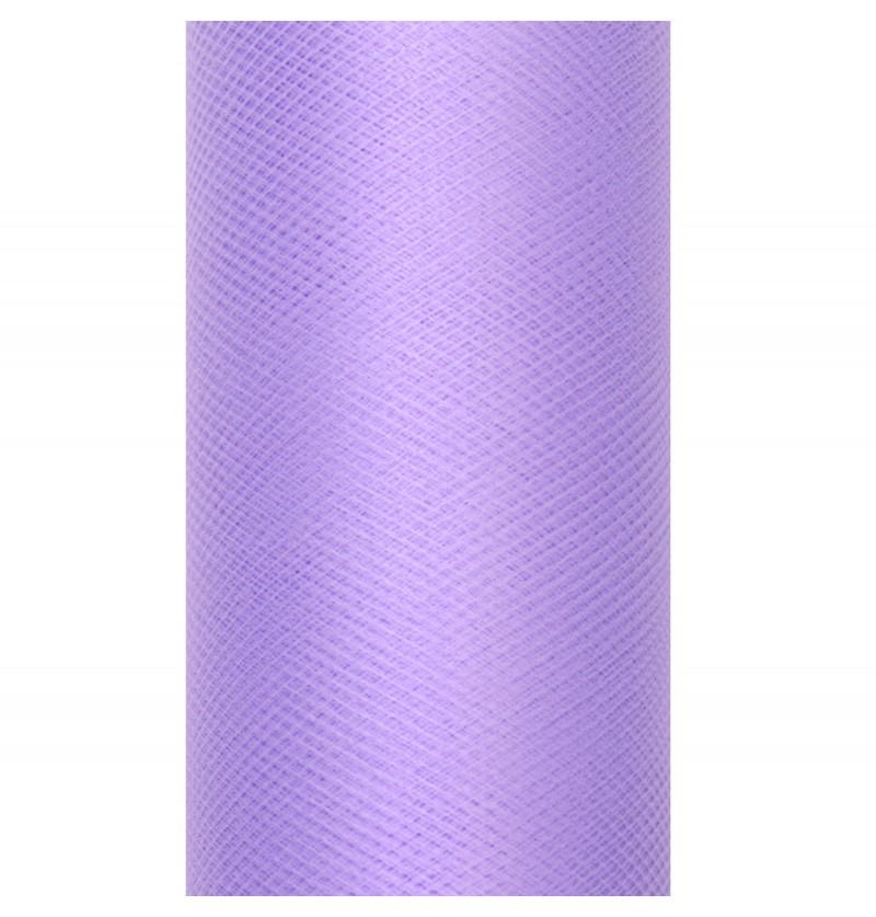 Rollo de tul violeta de 15cm x 9m