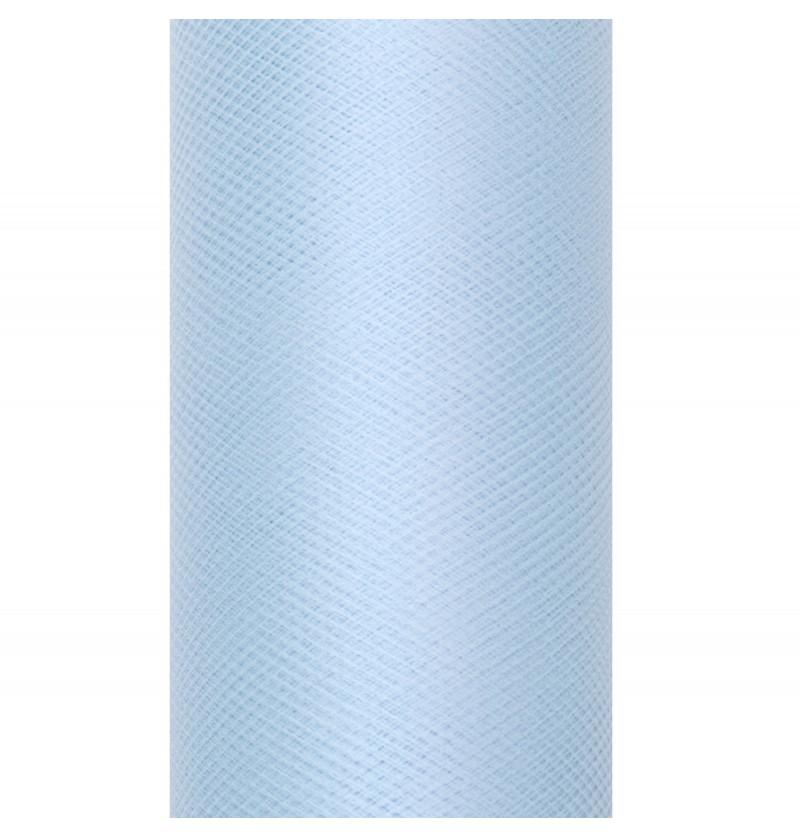 Rollo de tul azul cielo de 15cm x 9m