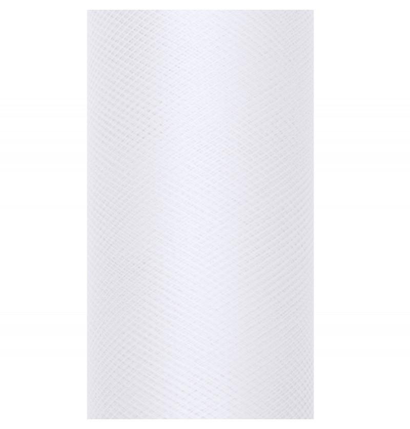 Rollo de tul blanco de 15cm x 9m