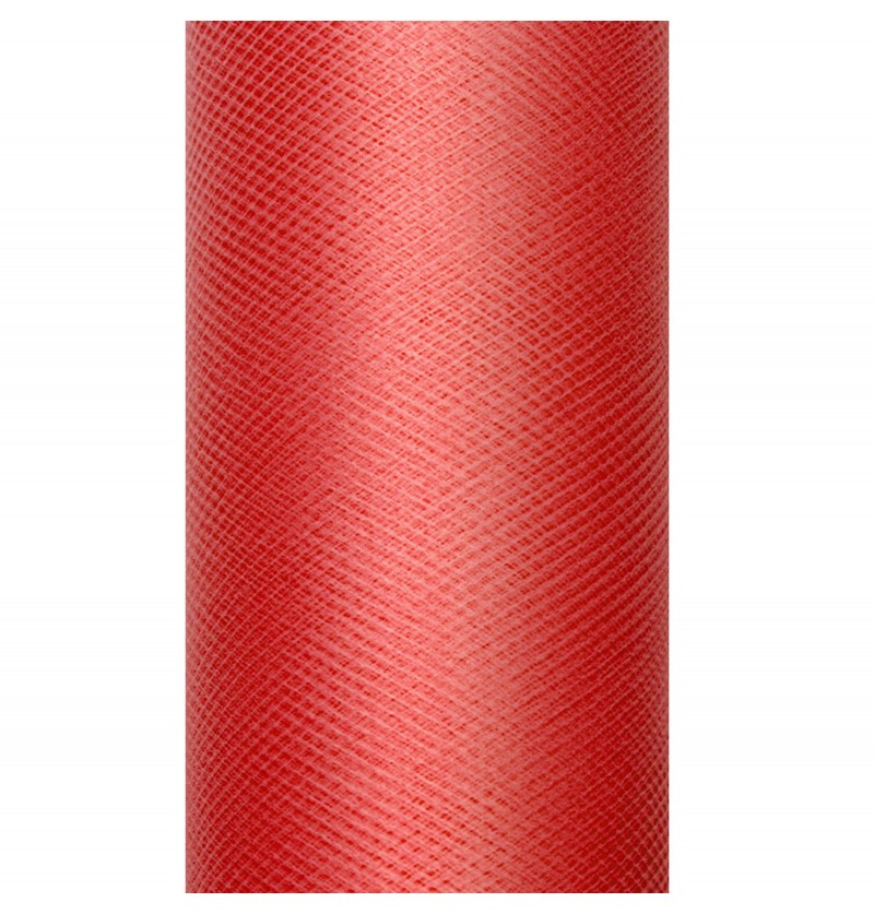 Rollo de tul rojo de 15cm x 9m