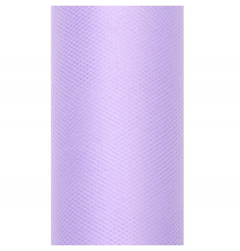 Rollo de tul lila de 15cm x 9m