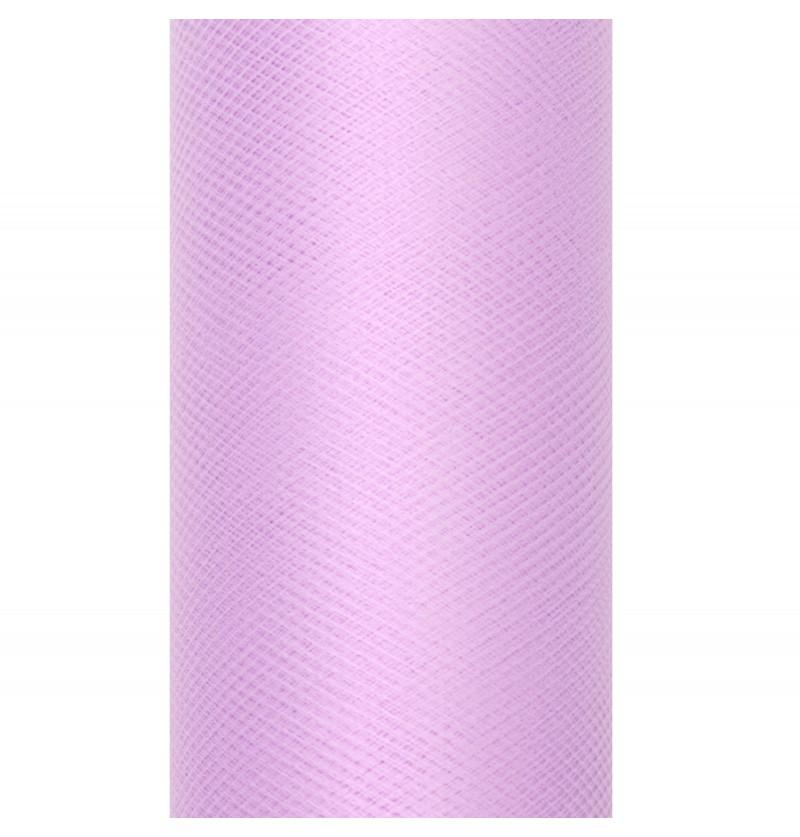 Rollo de tul lila pastel de 15cm x 9m