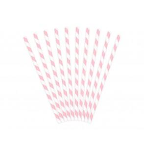 Set de 10 pajitas rosas pastel de papel - Unicorn