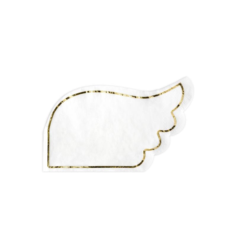 Set de 20 servilletas con forma de ala blanca de papel - Little Plane