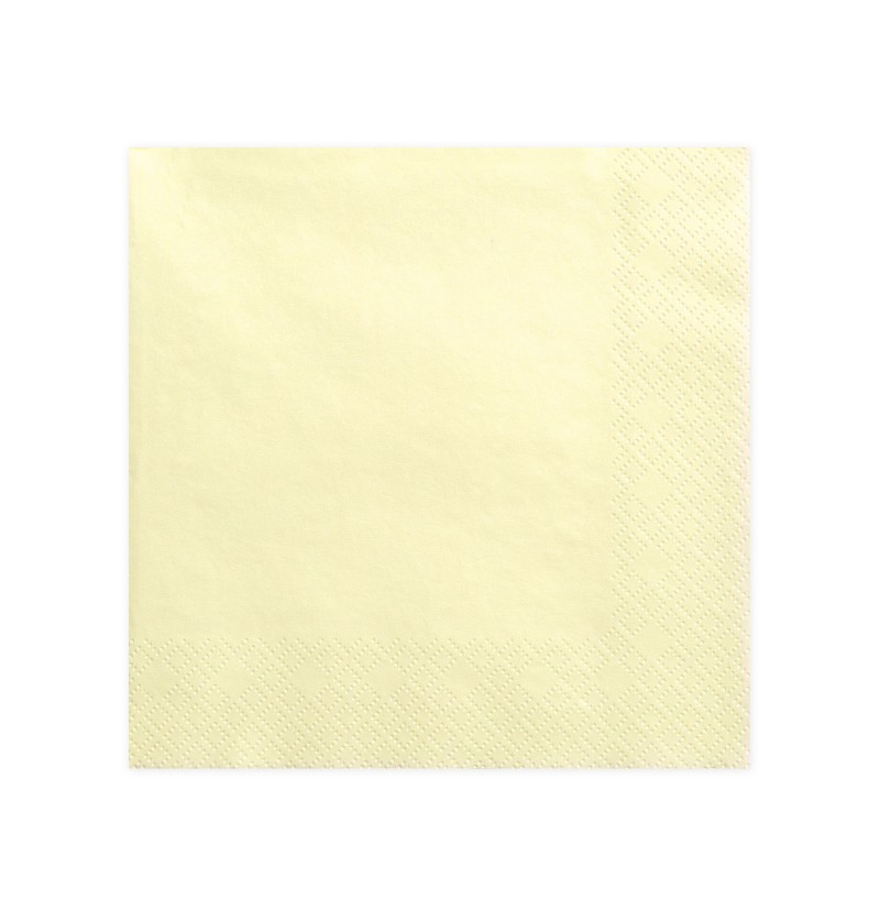 Set de 20 servilletas beiges de 40 cm de papel