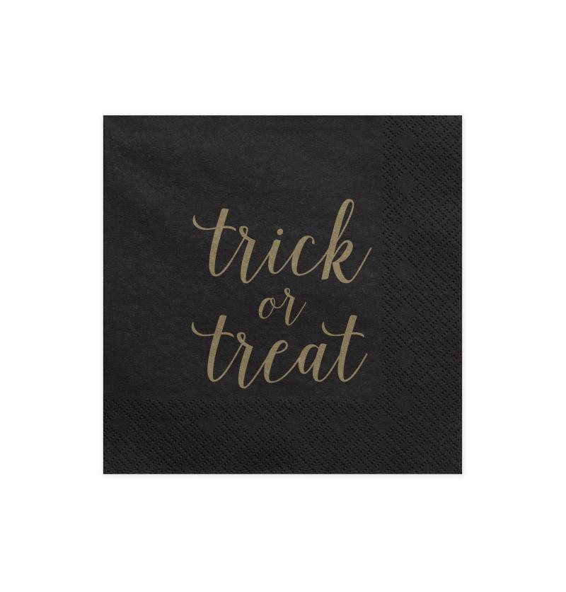 """Set de 20 servilletas negras """"Trick Or Treat"""" de papel - Trick or Treat Collection"""