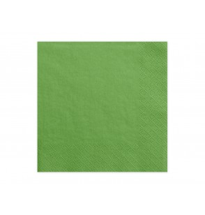 Set de 20 servilletas verdes hierba de papel