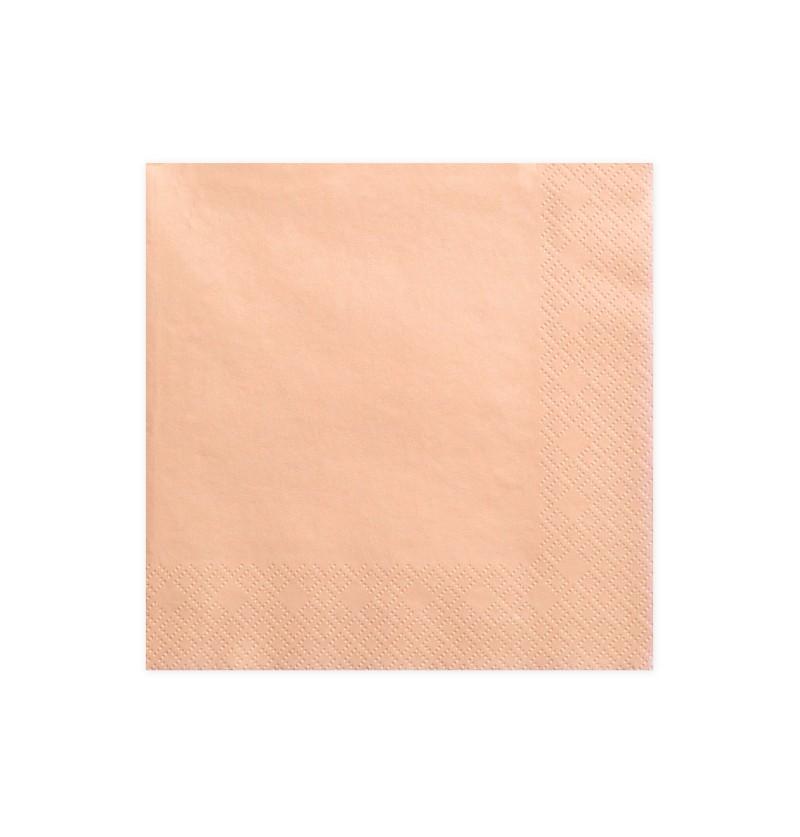 Set de 20 servilletas salmón de papel