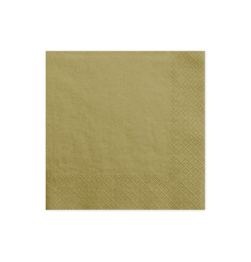 Set de 20 servilletas doradas de papel