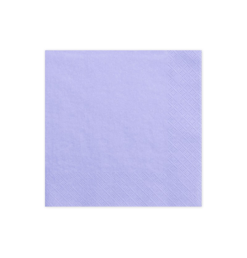 Set de 20 servilletas lilas de papel