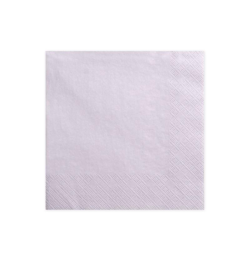 Set de 20 servilletas lilas pastel de papel