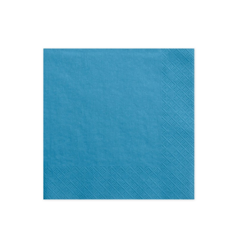 Set de 20 servilletas azules eléctrico de papel