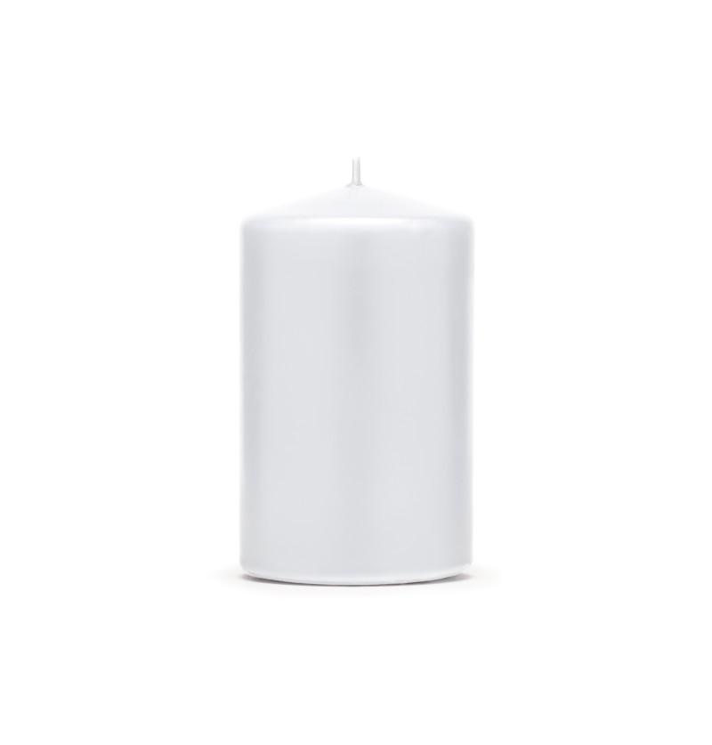 Set de 6 velas blancas de 10 cm