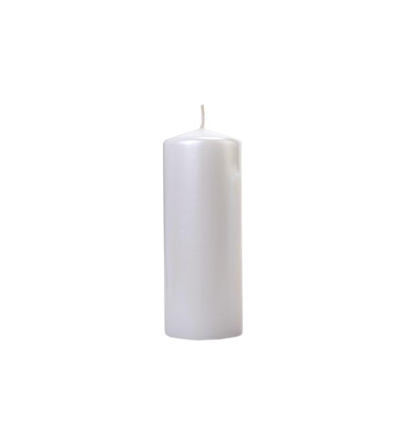 Set de 6 velas plateadas de 15 cm
