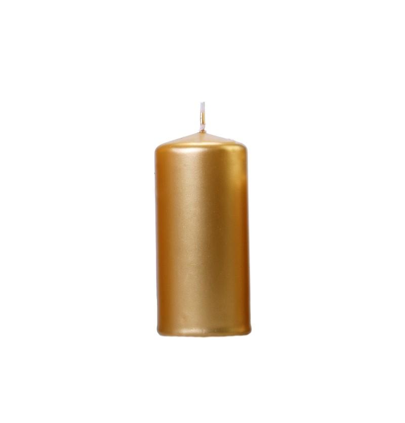 Set de 6 velas doradas de 12 cm