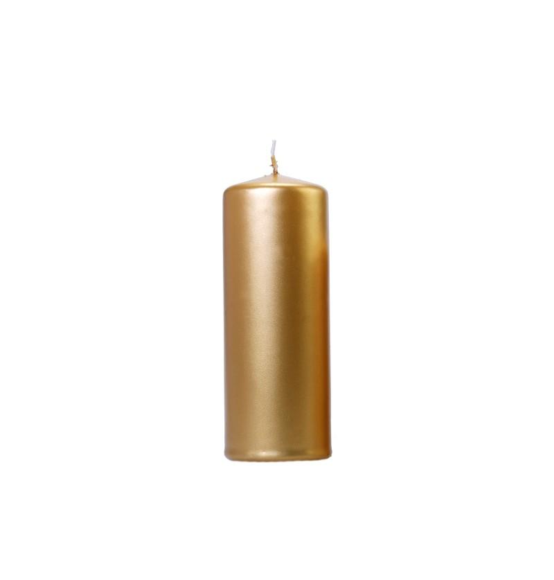 Set de 6 velas doradas de 15 cm