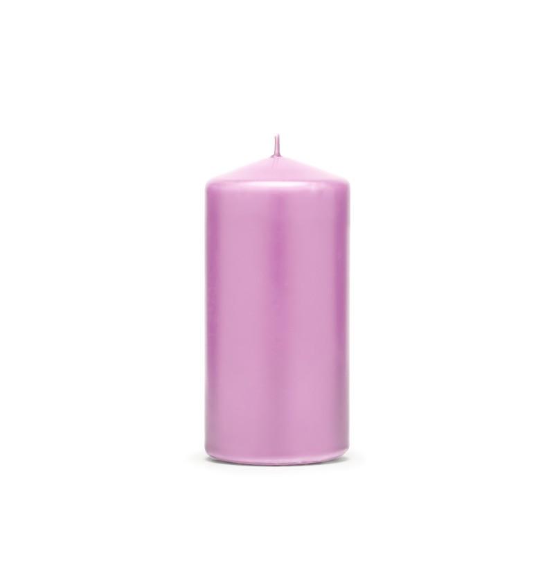 Set de 6 velas rosas pastel de 12 cm