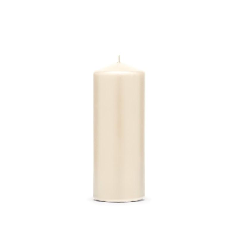 Set de 6 velas beiges de 15 cm