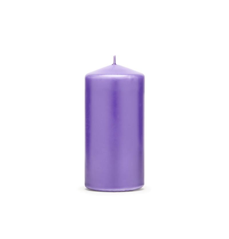 Set de 6 velas moradas 12 cm
