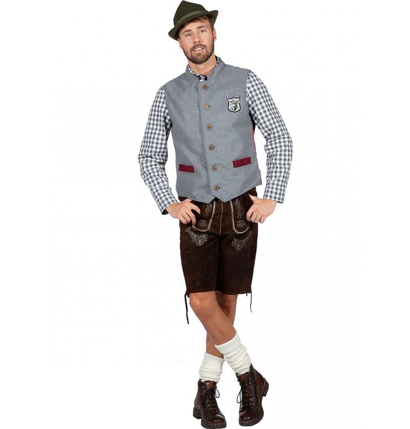 Chaleco de tirolés Oktoberfest para hombre