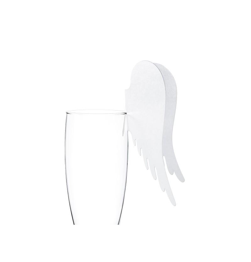 Set de 10 decoraciones para vaso con forma de alas de papel