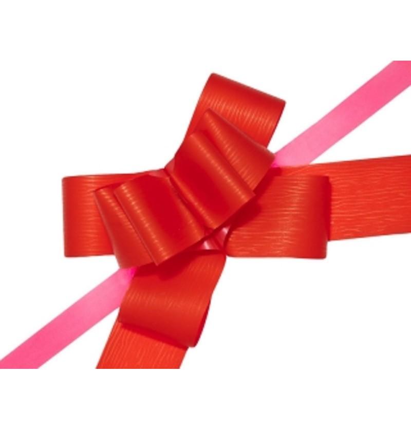 Set de 10 cintas de lazo rojas de 5 cm