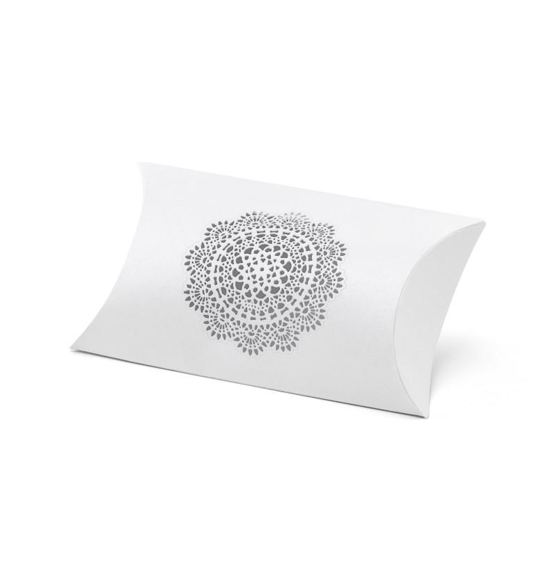 Set de 10 cajas de regalo blancas con roseta - Rustic Collection