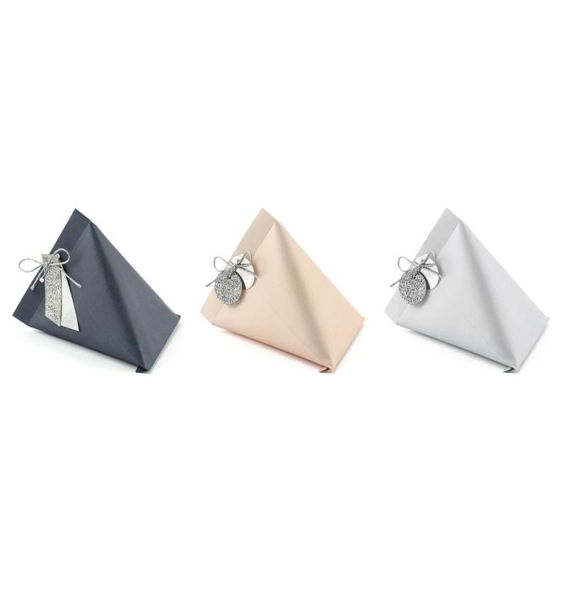 Set de 6 cajas de regalo en colores variados con etiquetas - Elegant Bliss Collection