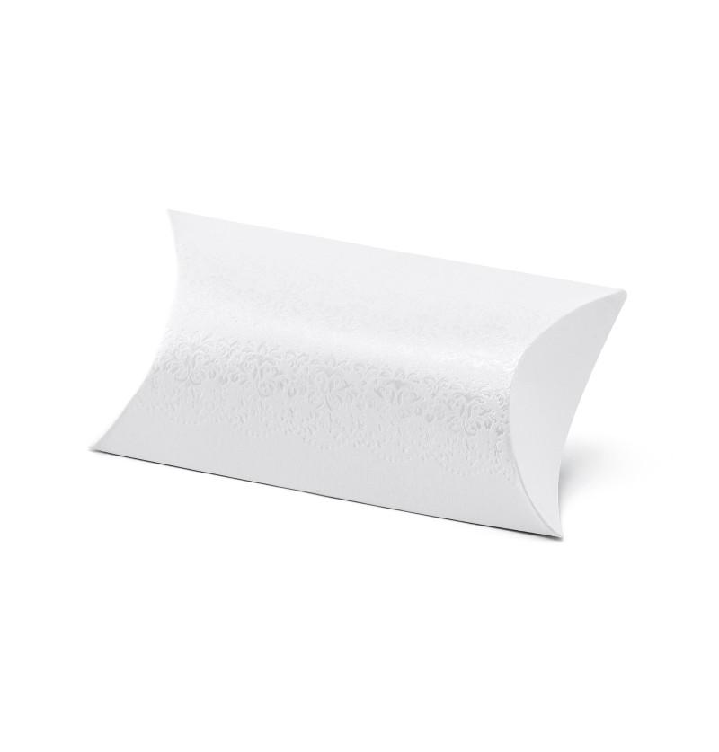 Set de 10 cajas de regalo blancas con estampado plateado