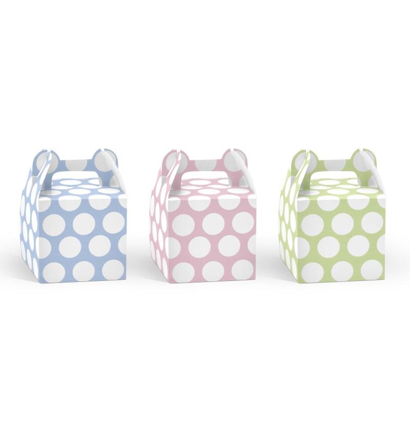Set de 6 cajas multicolor con lunares para chucherías - Pastelove