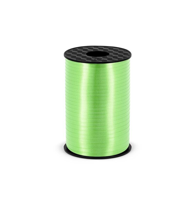 Cinta verde claro mate de 5 mm de plástico