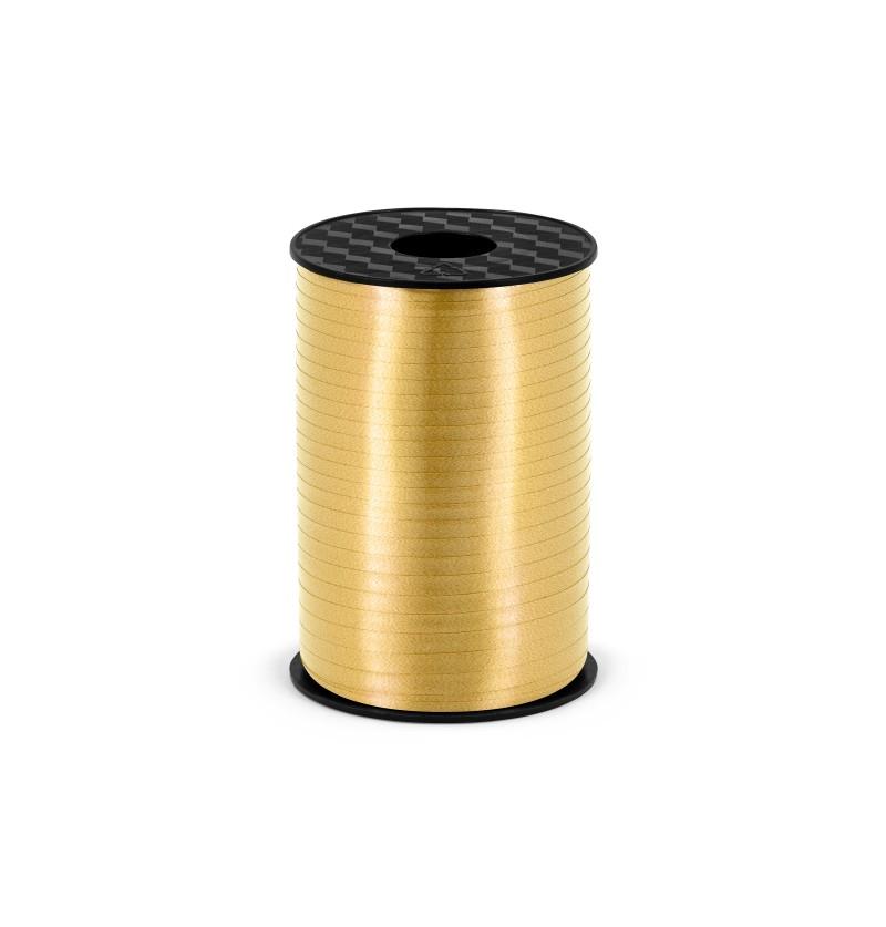 Cinta dorada mate de 5 mm de plástico
