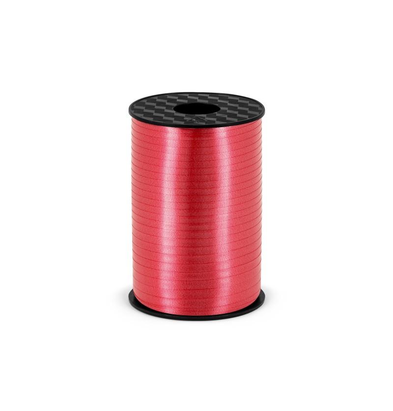 Cinta roja mate de 5 mm de plástico