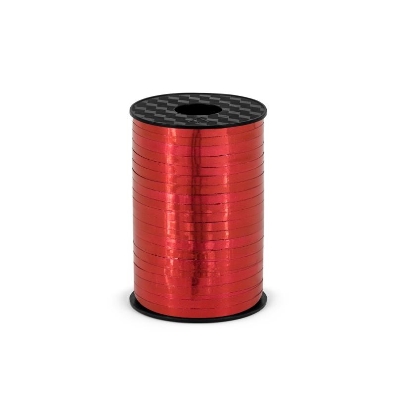 Cinta roja metálica de 5 mm de plástico