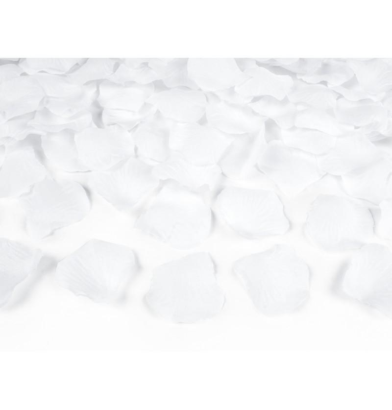 Set de 100 pétalos de rosas blancas