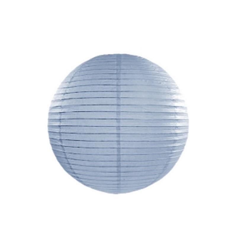 Farolillo azul grisáceo de papel de 65 cm