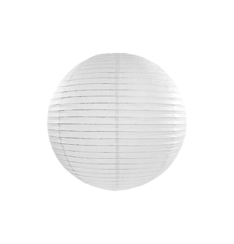 Farolillo blanco de papel de 55 cm