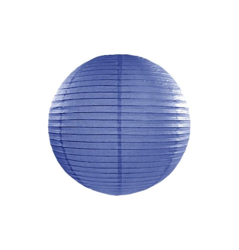 Farolillo azul oscuro de papel  de 45 cm