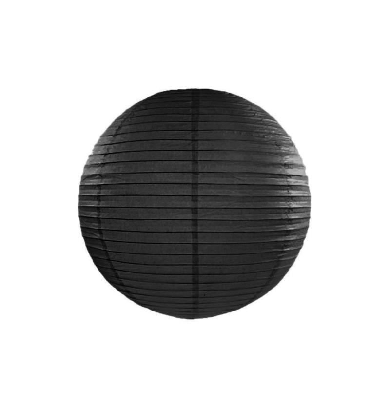 Farolillo negro de papel de 35 cm